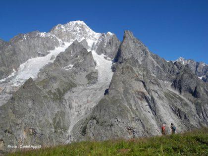 Le mont Blanc depuis le Val Veni italien.