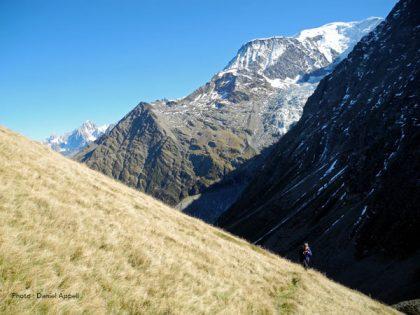 Col de Tricot dans le massif du mont Blanc.