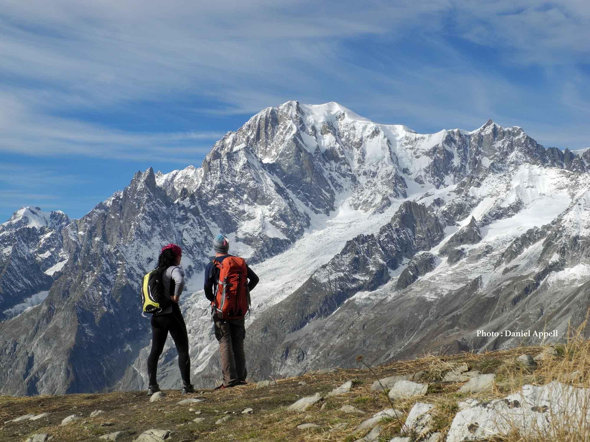 Randonnée dans le massif du mont Blanc.
