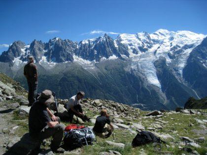 Randonnées accompagnées dans le massif du mont Blanc.